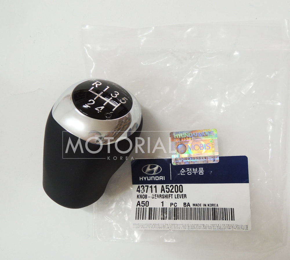 2012-2016 HYUNDAI i30 ELANTRA GT OEM Leather Gear Shift Knob Lever 6-Speed MT #43711A5200