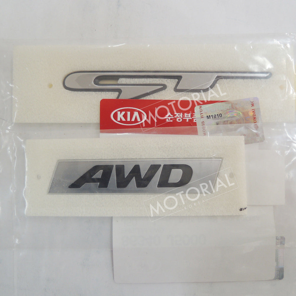 2017-2020 KIA STINGER Genuine OEM Rear AWD + GT Logo Emblem 2pcs Set