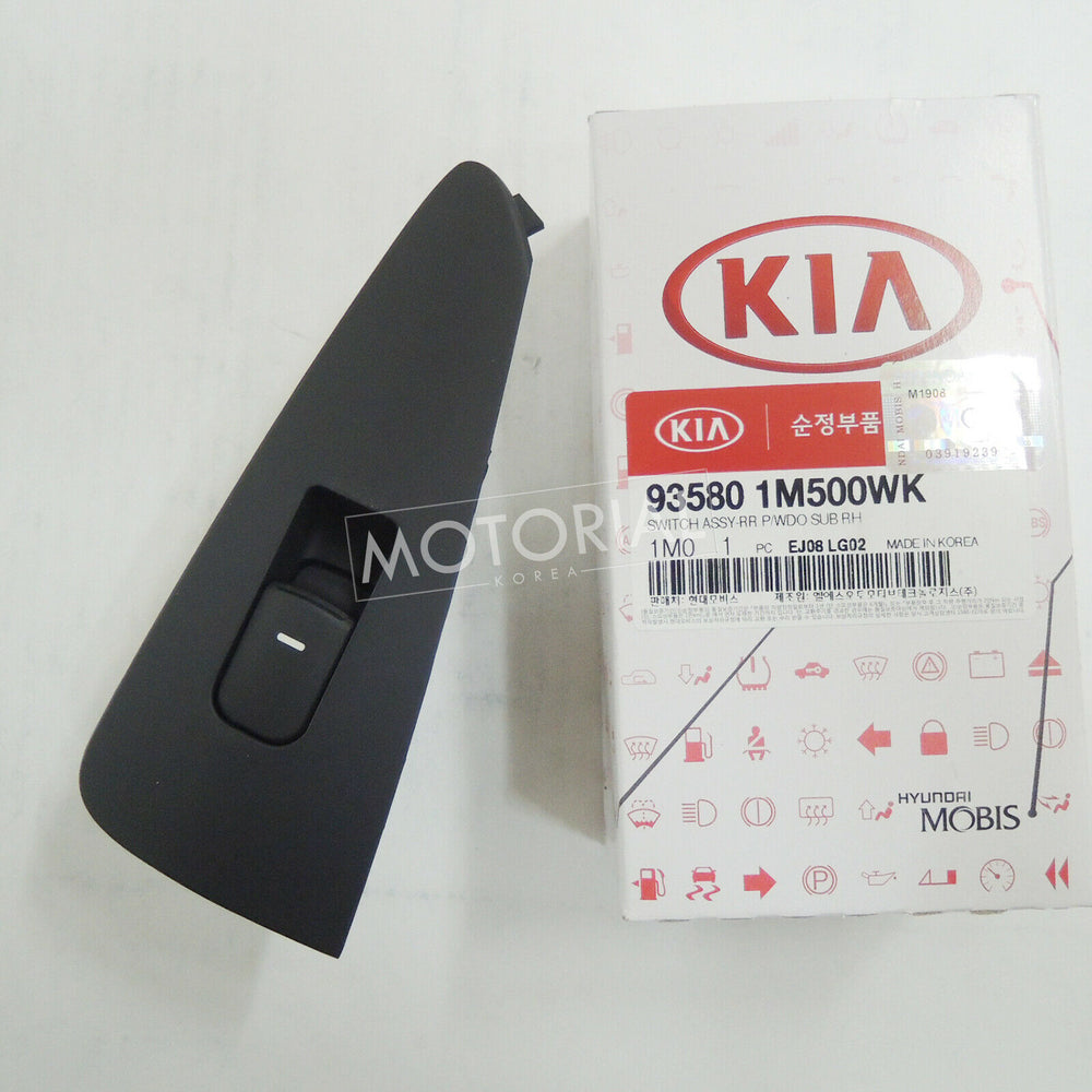 2009-2013 KIA FORTE / CERATO Genuine OEM Rear Right Side Power Window Sub Switch 935801M500WK