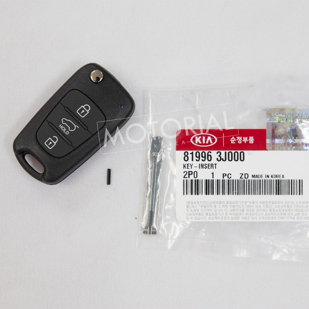 11-12 KIA SORENTO Genuine OEM Keyless Entry Remote Folding Key Control 3pcs Set