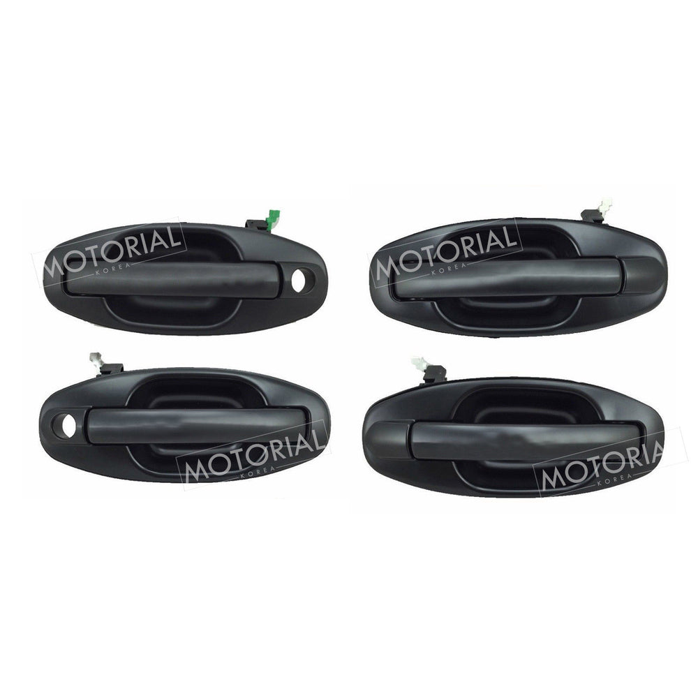 2000-2006 HYUNDAI SANTA FE Genuine OEM Black Outside Door Handle 4pcs Set