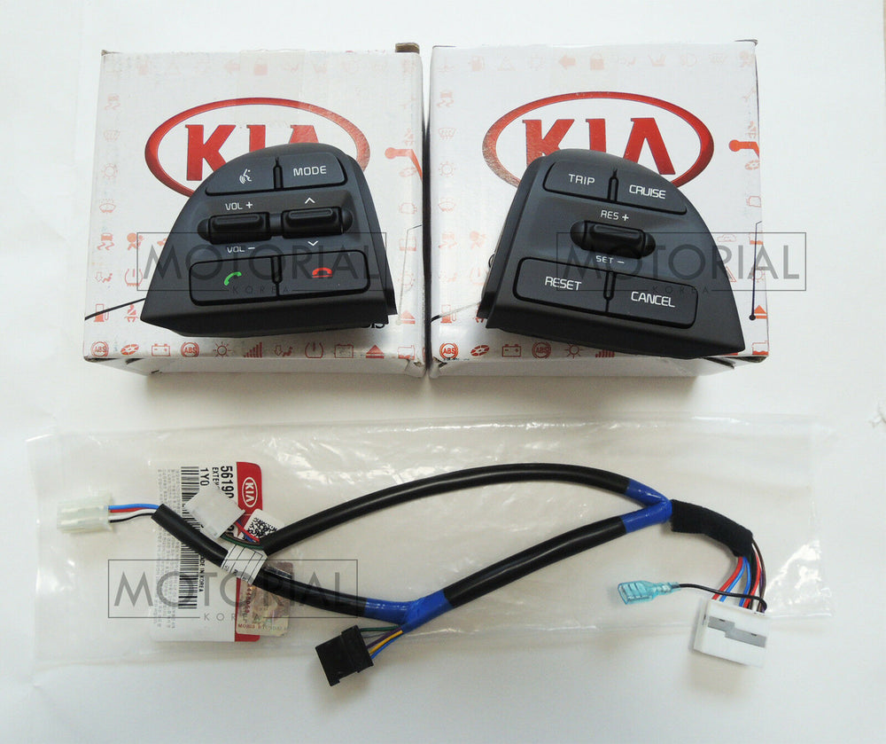 2015-2017 KIA PICANTO / MORNING OEM Audio Auto Cruise Switch + Wire + Clock Spring Heated