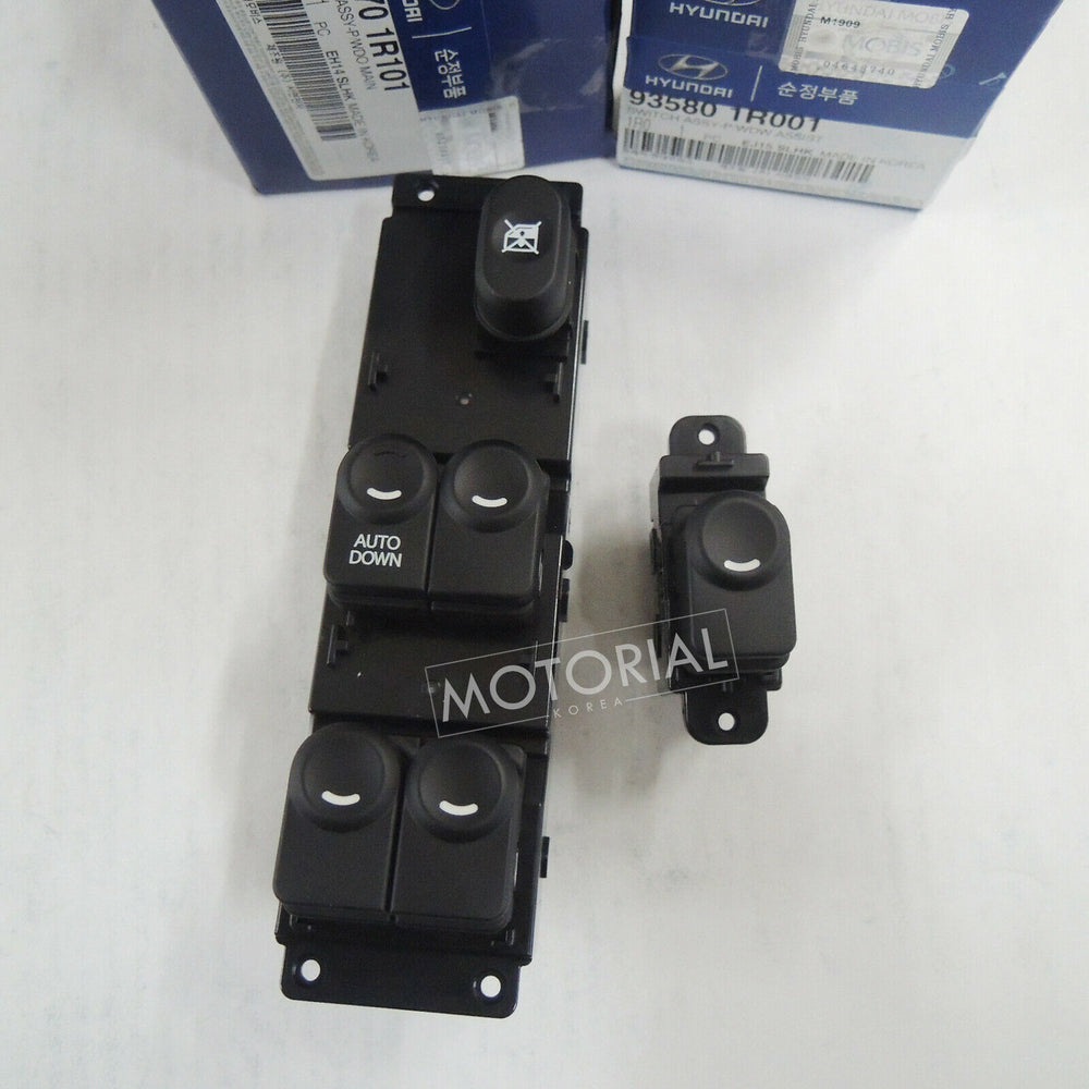 2011-2017 HYUNDAI ACCENT SOLARIS Genuine OEM Front Main + Sub Power Window Switch Set