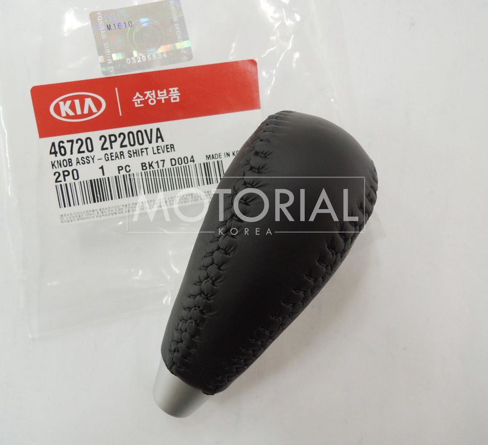 2010-2012 KIA SORENTO Genuine OEM Leather Gear Shift Lever Knob A/T