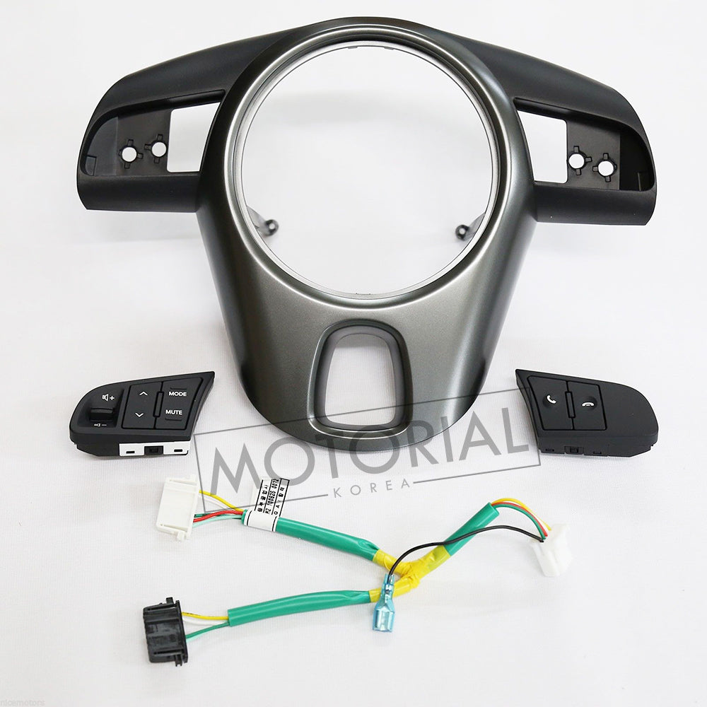 2010-2013 KIA FORTE & CERATO / KOUP Genuine Steering Wheel Switch + Cover + Wire 4pcs Set