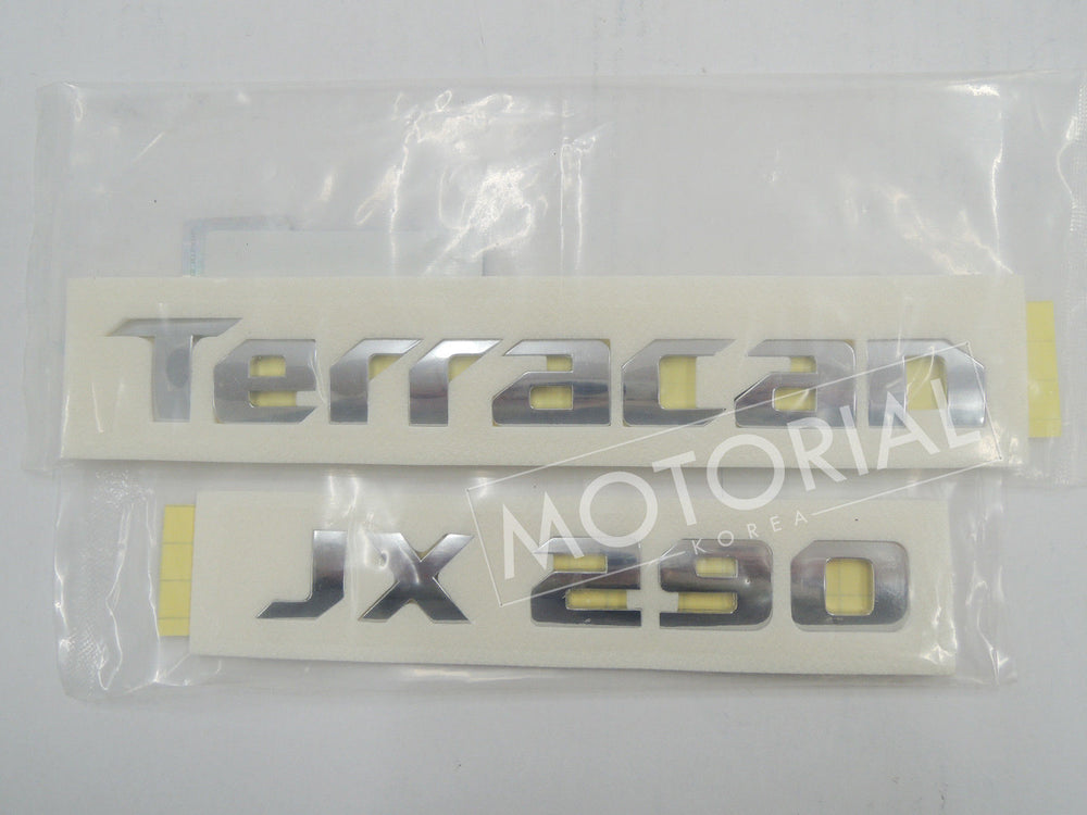 2001-2007 HYUNDAI TERRACAN Genuine OEM TERRACAN + JX290 Emblem Set