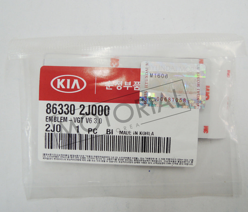 2008-2016 KIA BORREGO Genuine OEM Front Side OEM VGT V6 3.0 Emblem 1pc