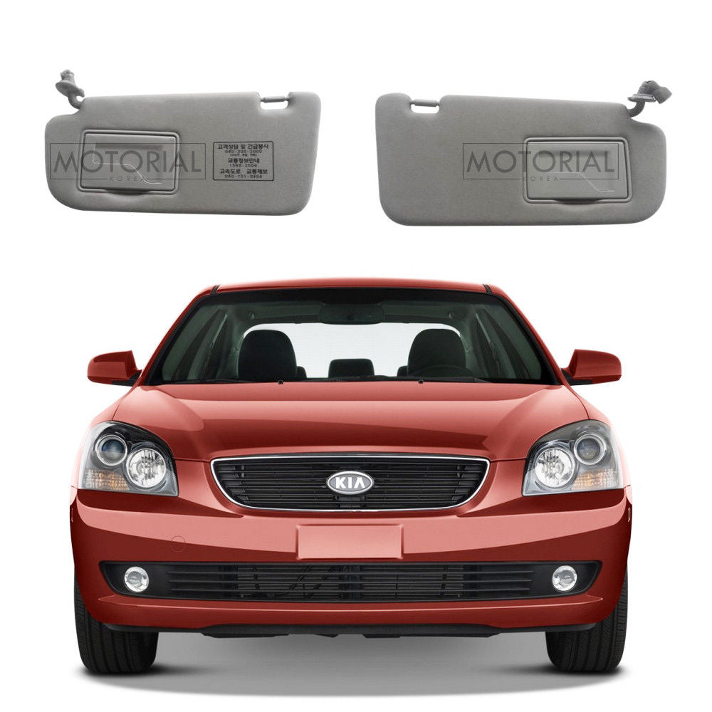 2007-2010 KIA OPTIMA / LOTZE Genuine OEM Left Right Sun Visors Gray 2Pcs Set