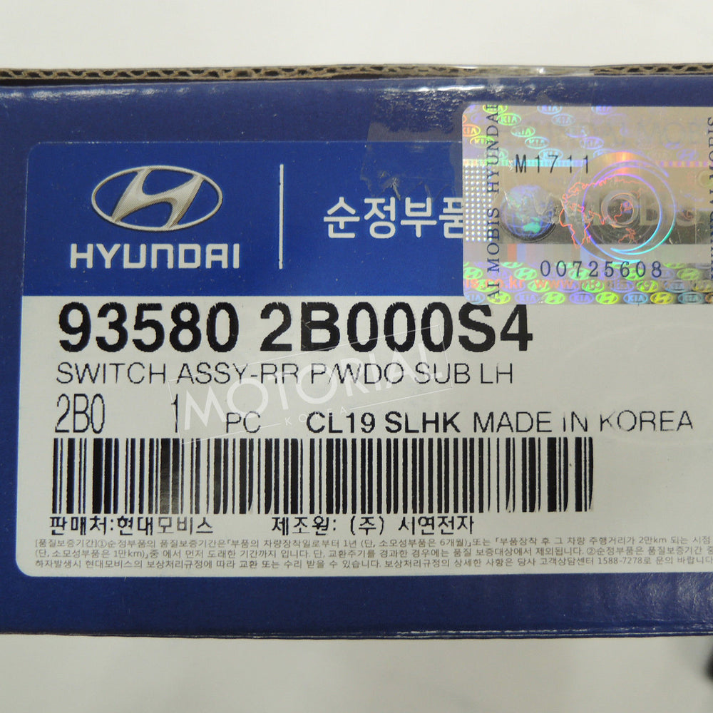 HYUNDAI SANTA FE 2007-2011 OEM Rear Left Power Window Switch 935802B000S4