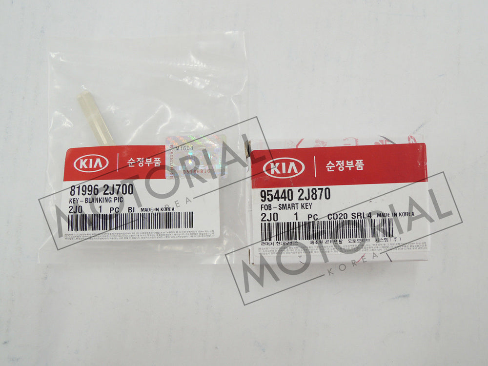 2012-2016 KIA MOHAVE / BORREGO Genuine OEM FOB Smart Key + Blanking PIC Key