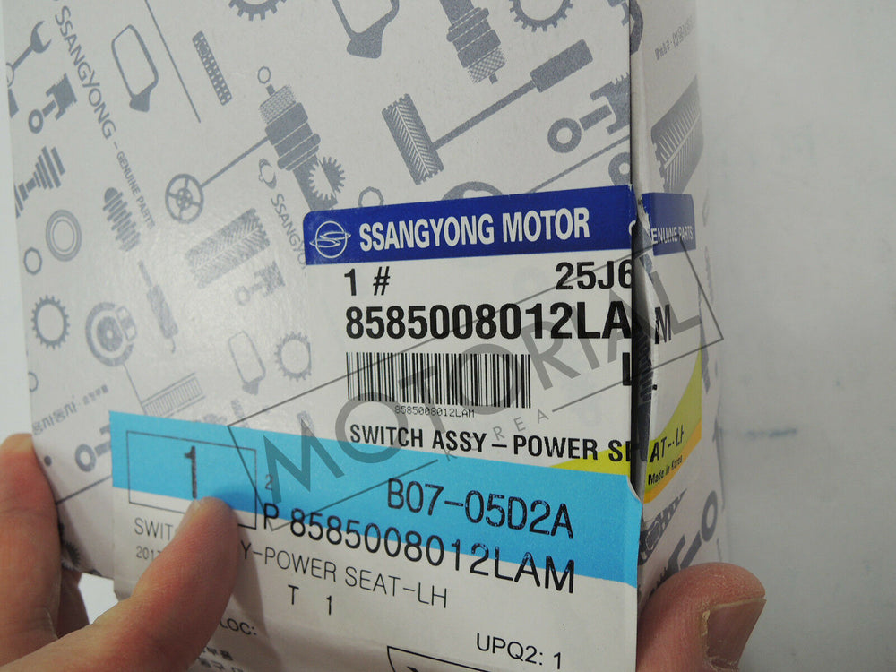 2013-2016 SSANGYONG KORANDO / ACTYON SPORTS OEM Power Seat Switch Assy #8585008010LAM