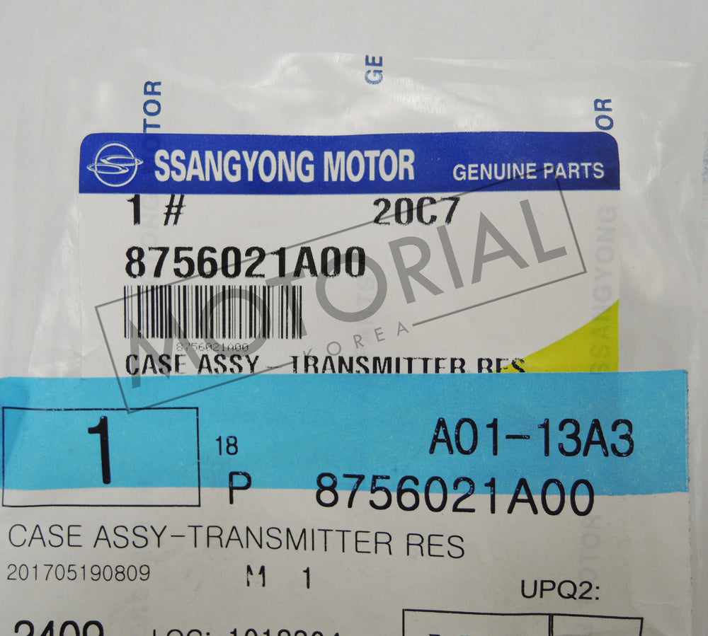 2004 2005 2006 SSANGYONG REXTON OEM Transmitter Res Case Assy 1pc 8756021A00