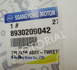 2013-2017 SSANGYONG KORANDO / ACTYON SPORTS OEM Tweeter Speaker 8930209042