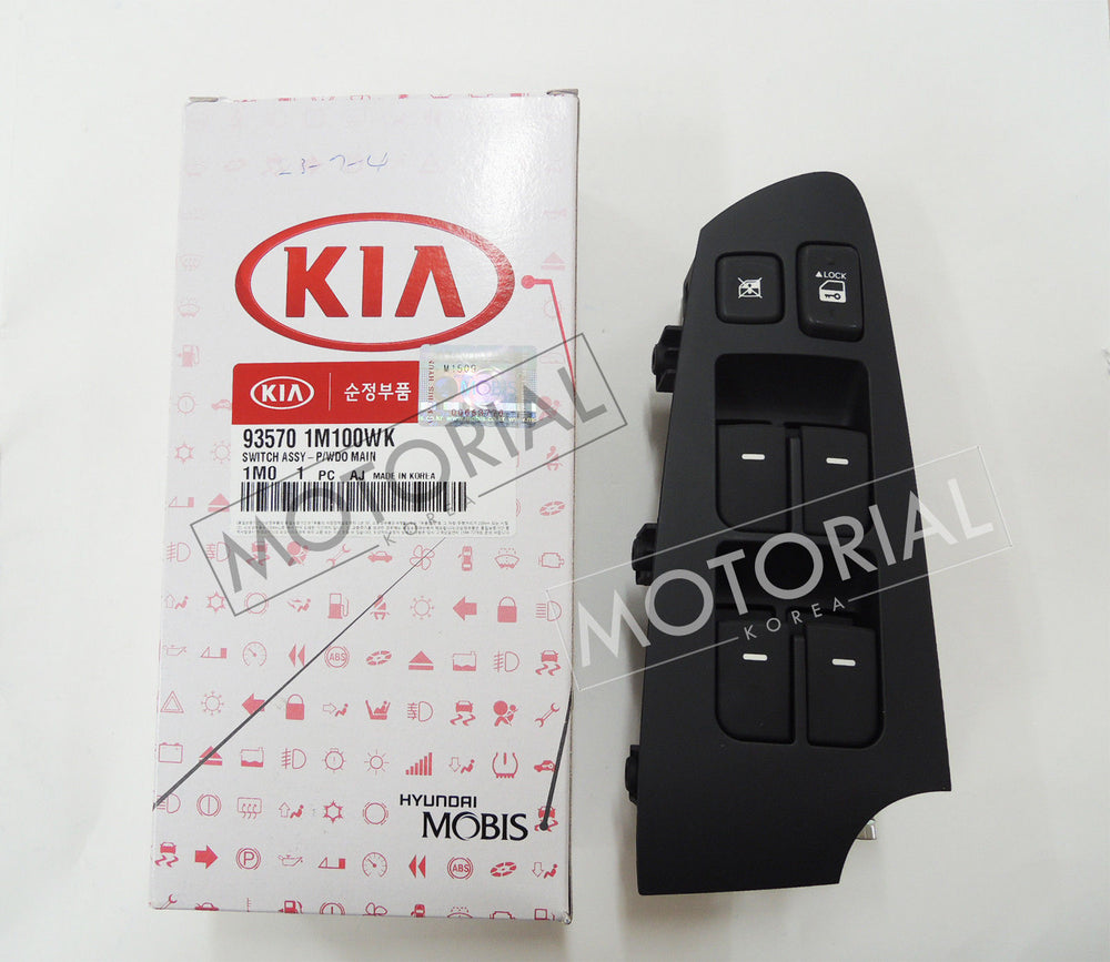 2009-2013 KIA FORTE / CERATO Genuine OEM Main Power Window Switch 935701M100WK