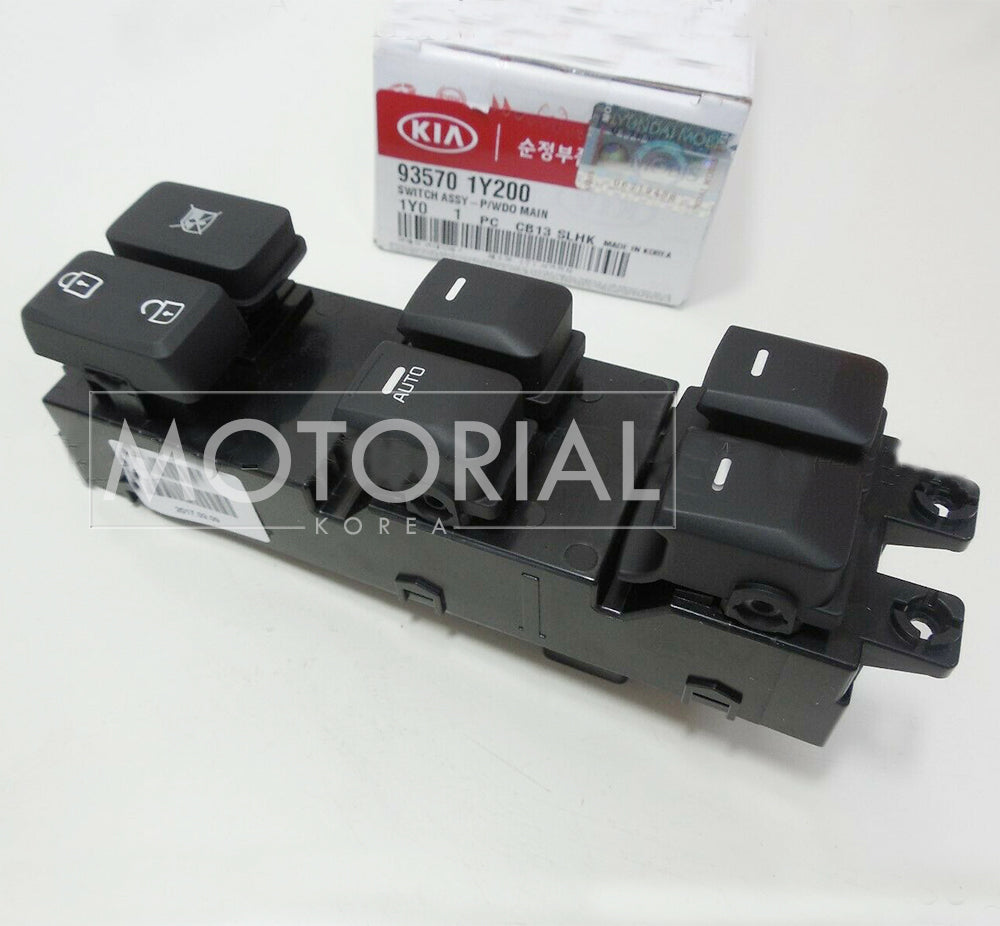 2011-2015 KIA PICANTO Genuine OEM Main Power Window Switch 935701Y200