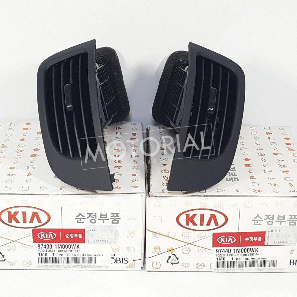 2009-2013 KIA FORTE & CERATO / KOUP Genuine Matte Black Front Air Vent Center Nozzle LH RH Set