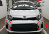 2018-2020 KIA PICANTO Genuine OEM Fog Lamp + Cover + Wire 6pcs Set