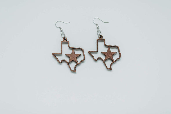 Texas Strong Houston Strong Earrings from Solid Wood