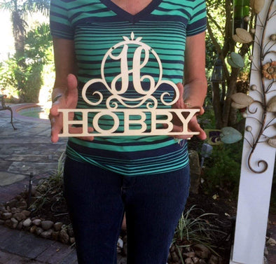 "Personalized 12"" Family Last Name Sign, Wall Hanging"