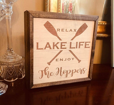Personalized Lake House Hidden Gun or Valuables Safe Wall Hanging