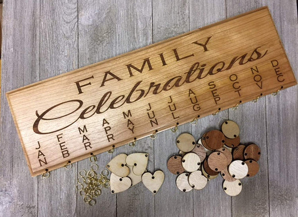 Personalized Family Birthday and Celebration Board Wall Hanging Plaque