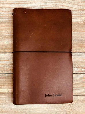 Personalized Handmade Rustico Leather Expedition Refillable Journal Notebook