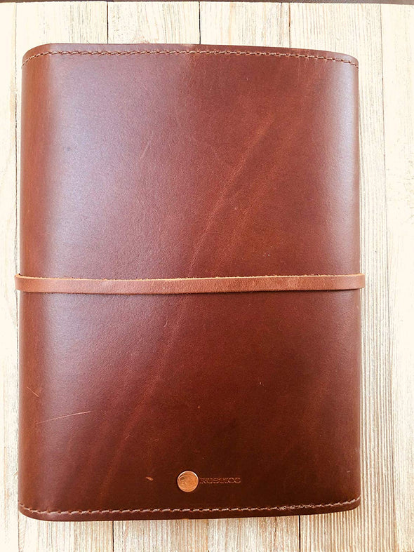 Personalized Handmade Rustico Large Leather Writer's Log Refillable Journal Notebook