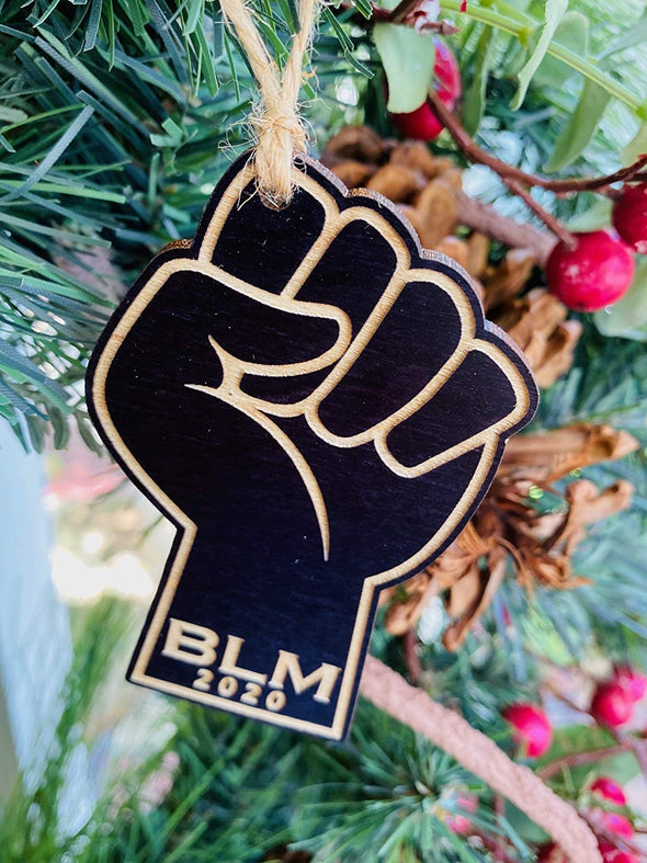 Commemorative 2020 Raised Fist Black Lives Matter Christmas Ornament