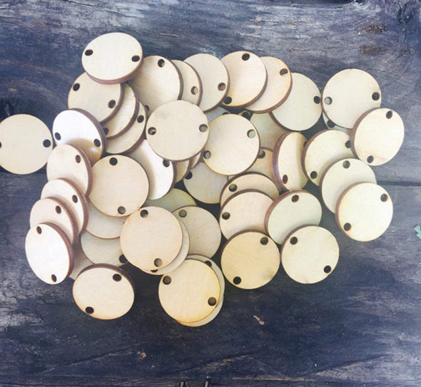 Wood Discs (50) for Birthday Boards or Craft Projects, Scrapbooking