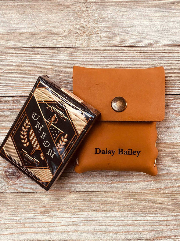 Personalized Prestige Leather Card Case with Union Cards