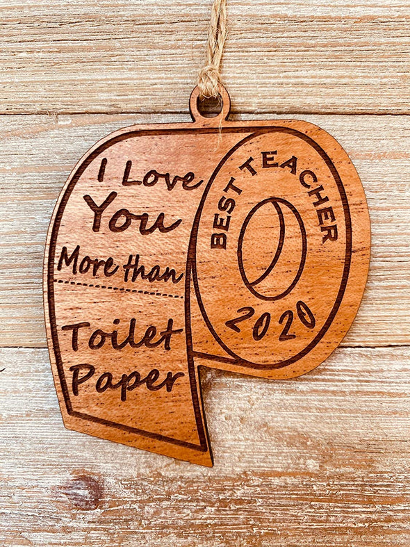 2020 Commemorative Best Teacher Toilet Paper Christmas Ornament Gift