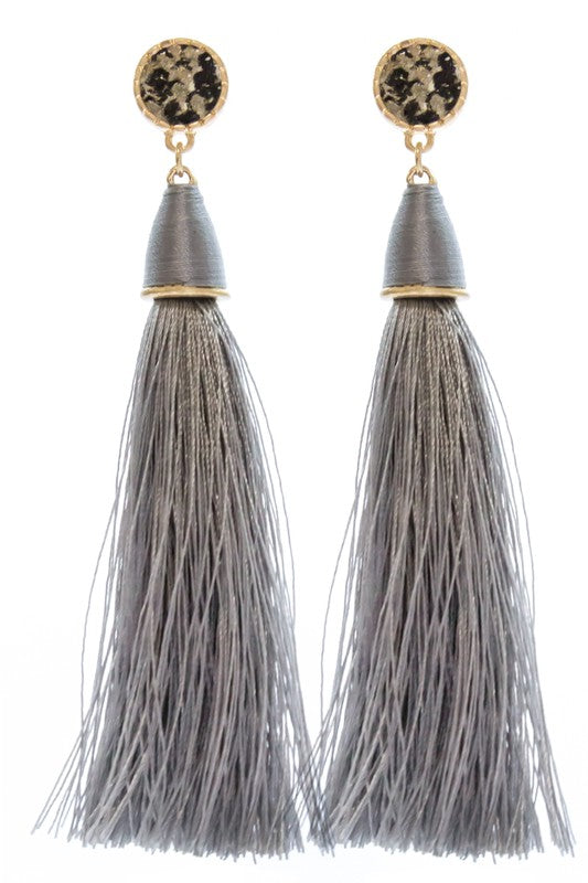 Snake Tassel Earrings - Crowned Boutique
