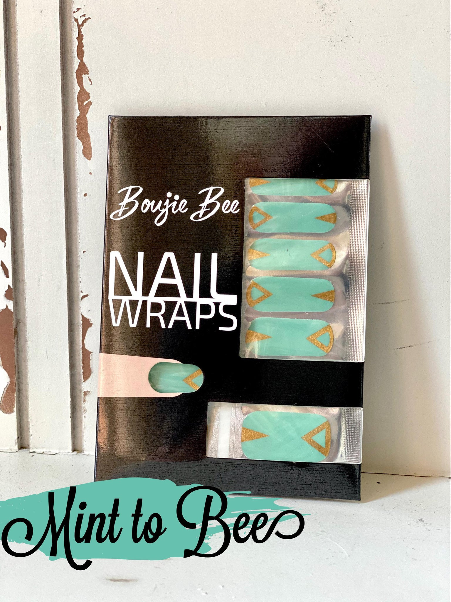 Mint to Bee Nail Wraps