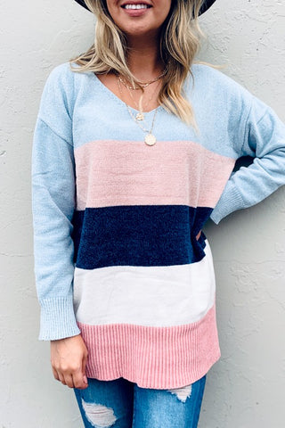 Pretty in Pastel Sweater - Crowned Boutique