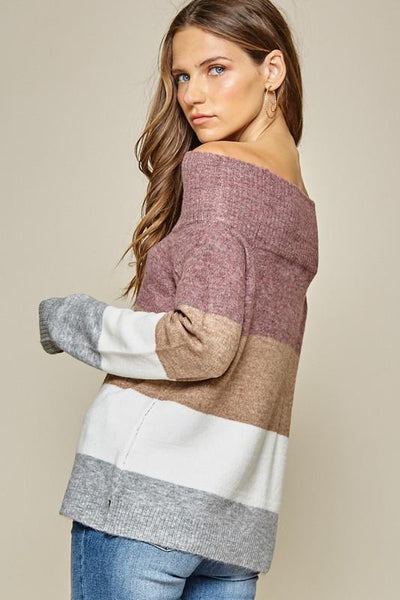 Andree by Unit Off Shoulder Sweater