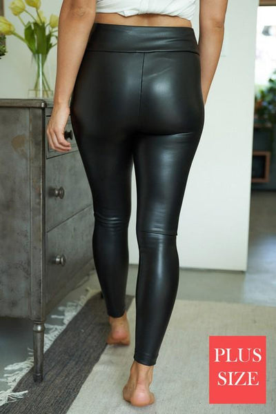 Faux Leather Leggings Plus