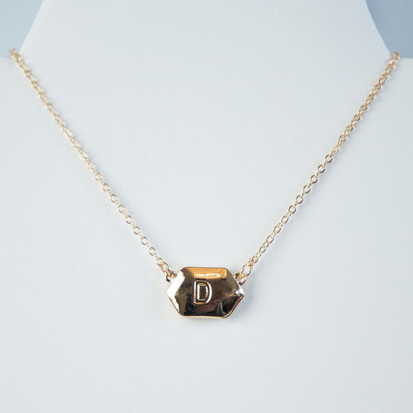 Ivory Shell Reversible Initial Letter Necklace