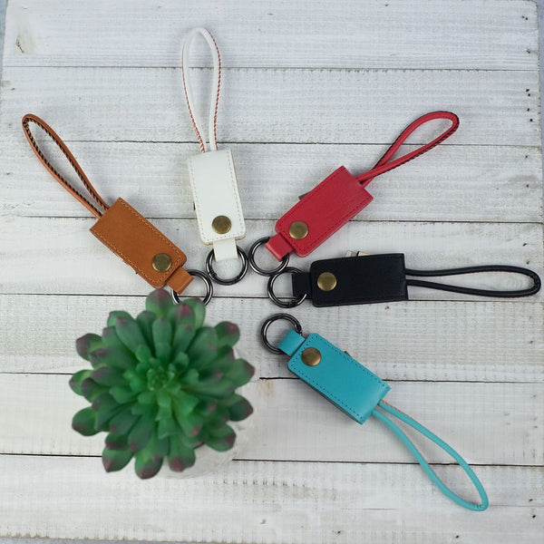 Key Chain with iPhone Charging Cable
