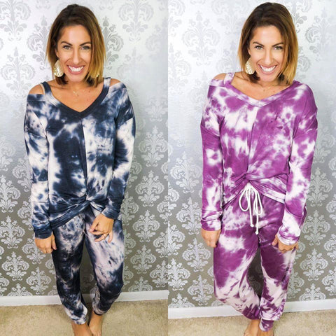 BOTTOM - Phierce Tie Dye Joggers - Crowned Boutique