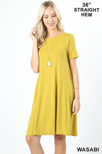 Spring has Sprung Dress Wasabi - Crowned Boutique