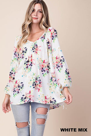 Spring Floral Top - Crowned Boutique