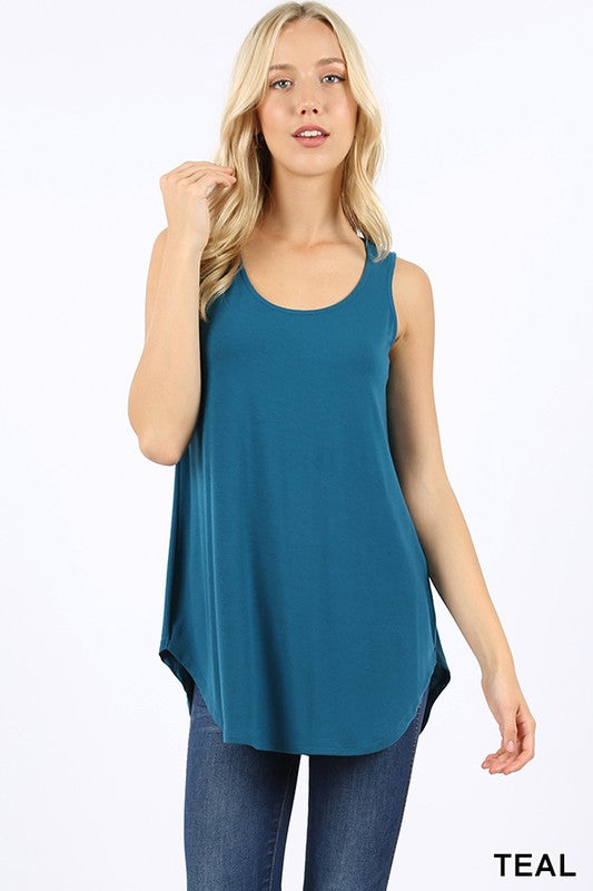 Teal Sleeveless Shift Tank
