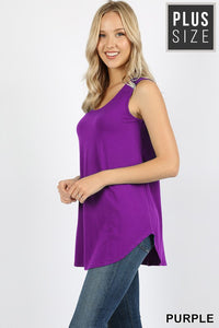 Purple Sleeveless Shift Tank - Crowned Boutique