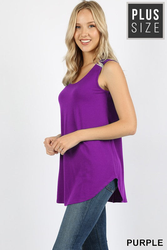 Purple Sleeveless Shift Tank
