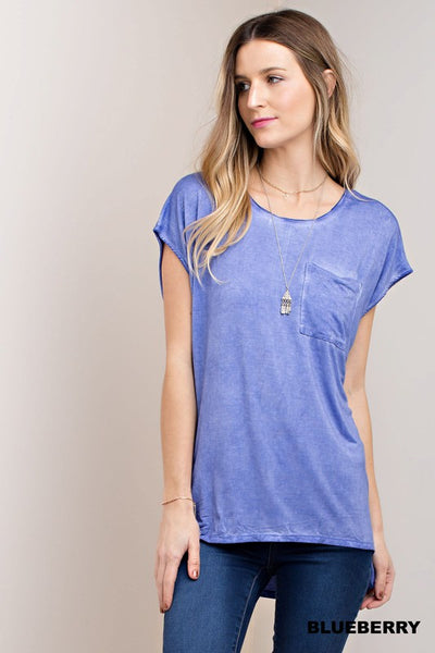 Blueberry Basic Tee - Crowned Boutique