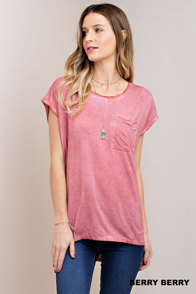 Berry Basic Tee - Crowned Boutique