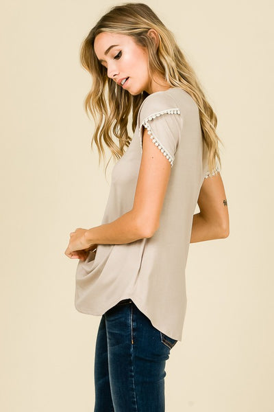 Tulip Sleeve Top - Crowned Boutique