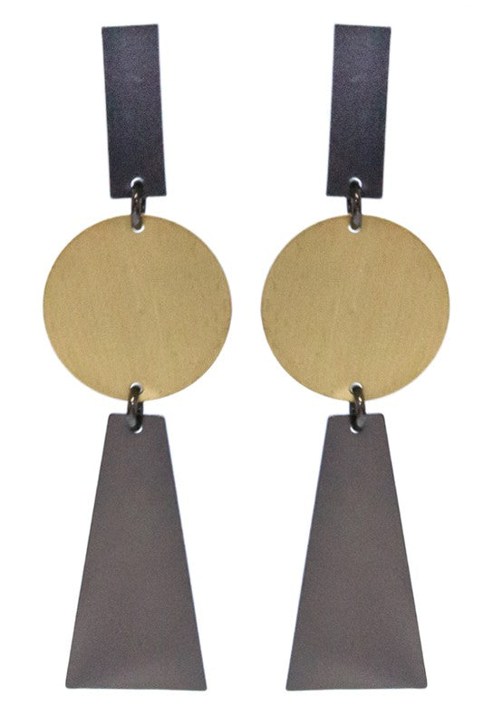 Geometry Class Earrings - Crowned Boutique