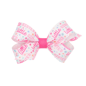 Mini Little Sister Printed Grosgrain Bow