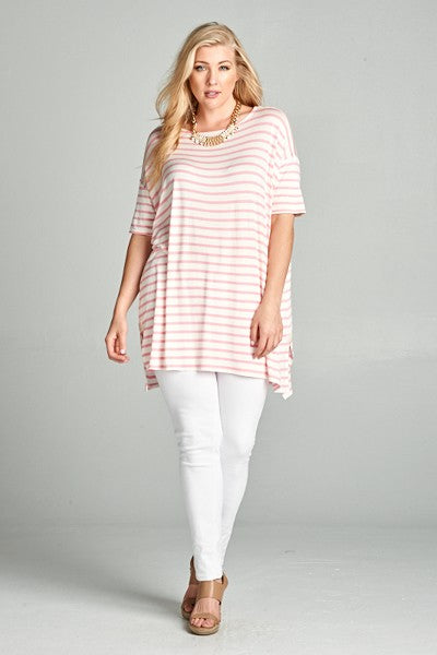 Pretty in Pink Tunic - Crowned Boutique